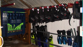 Equipment at Tarvis Dive Center