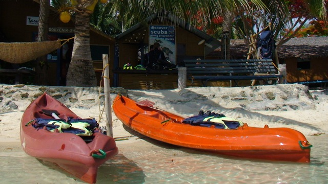 Kayak at Tarvis Dive Center